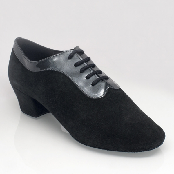 Ray Rose 417 Solar | Black Suede/ Silver Patent Collar