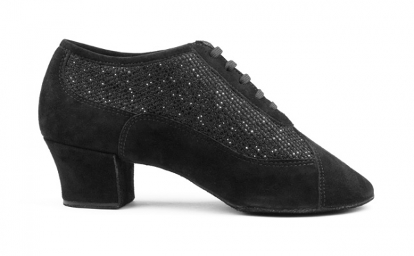 Portdance PD701 Fashion black nubuck/glitter