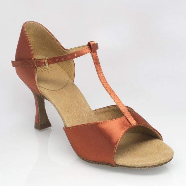 Ray Rose 809 Sahara | Dark Tan Satin 2,5