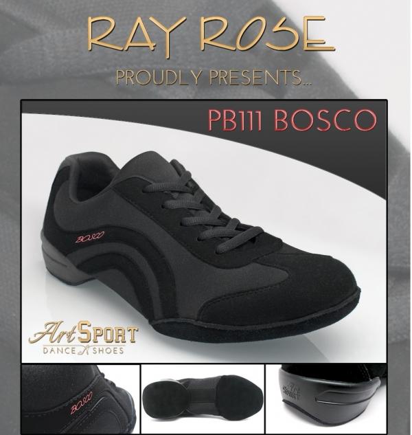 Ray Rose PB111 Bosco | Black Nubuck/Lycra