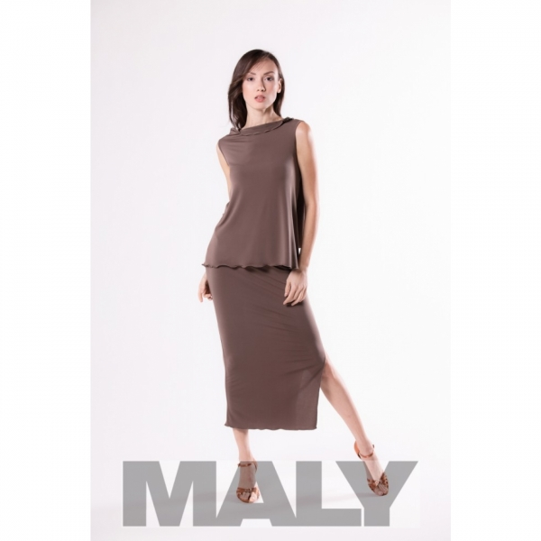 Maly store MF161105 Damenshirt with back scarf