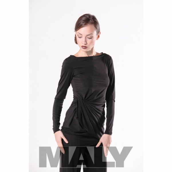 MF171104 7900 Shirt with knot decoration and arm black
