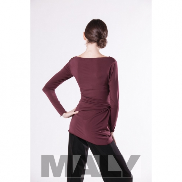 MF171104 7900 Shirt with knot decoration and arm bordeaux