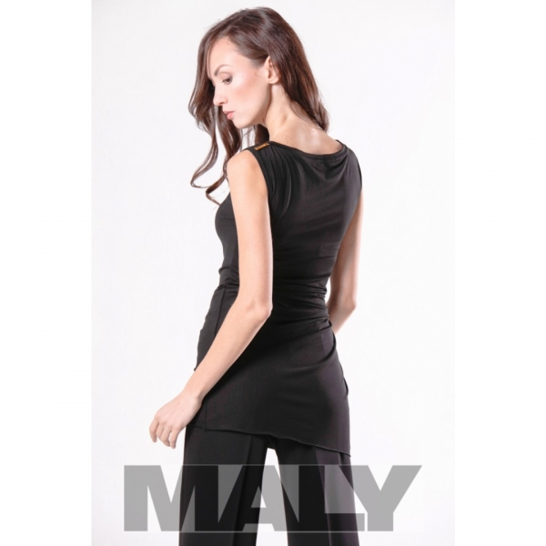 Maly Store MF171103 6900 Shirt with knot decoration black