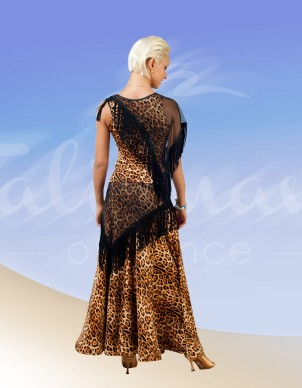 Talisman model 597 dance standard skirt leopard