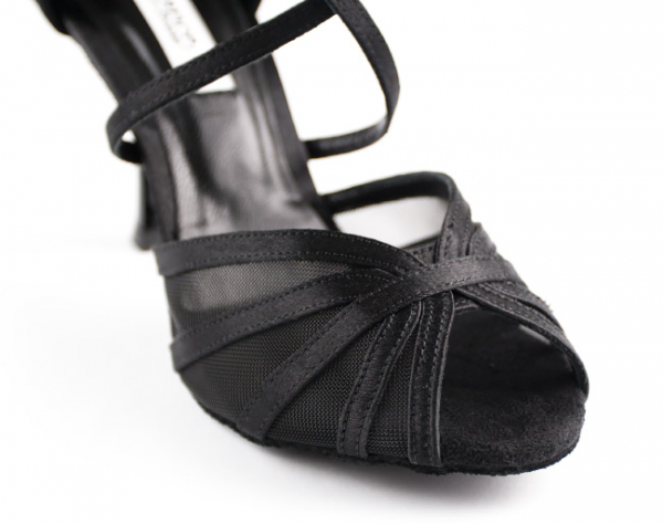 Portdance PD807 Pro Premium black satin 6cm heel