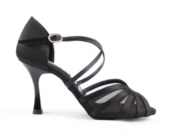 Portdance PD807 Pro Premium black satin 7cm heel