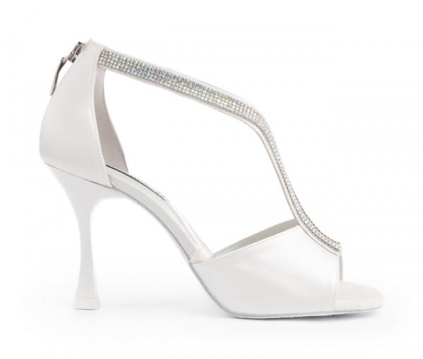 Portdance PD806 Pro Premium white satin 7 cm heel