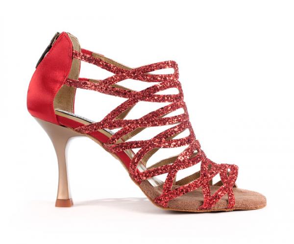 Portdance PD803 Pro red glitter 7 cm heel