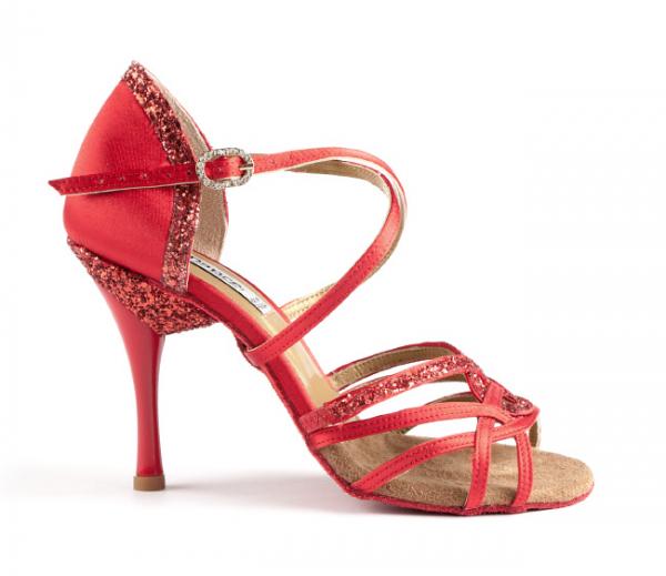 Portdance PD800 Pro Premium red satin 7,5 cm heel
