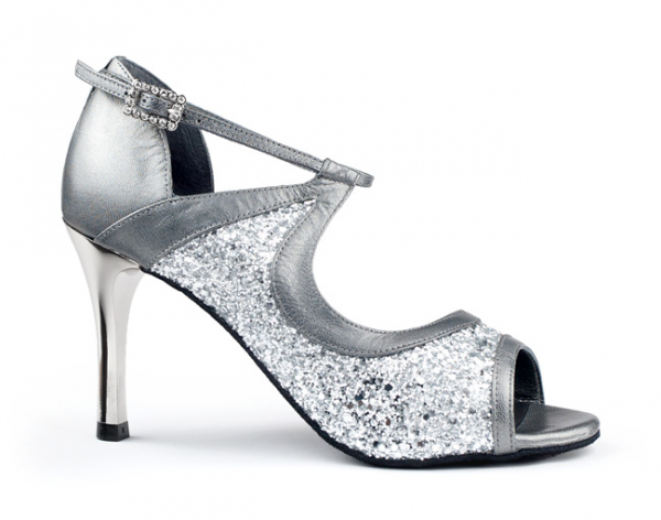 Portdance PD504 Tango silver leather/glitter