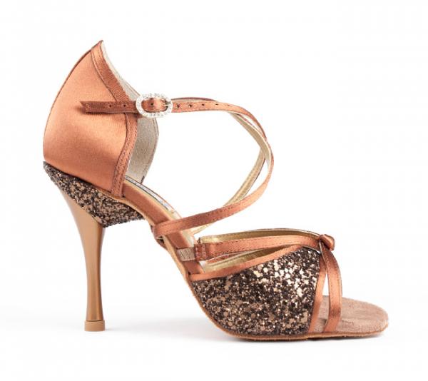 Portdance PD801 Pro bronze dark satin 7,5 cm heel