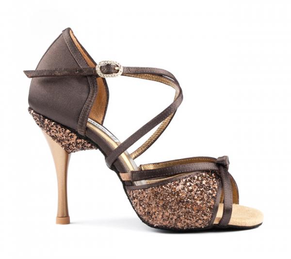 Portdance PD801 Pro brown satin 7,5 cm heel