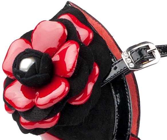 Portdance PD501 Tango black nubuck patent 7,5 cm heel
