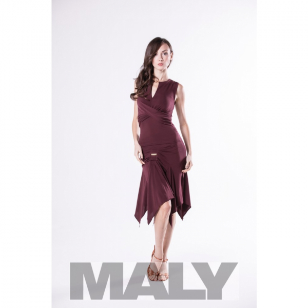 Maly Store MF151104-5900 Shirt cross look bordeaux