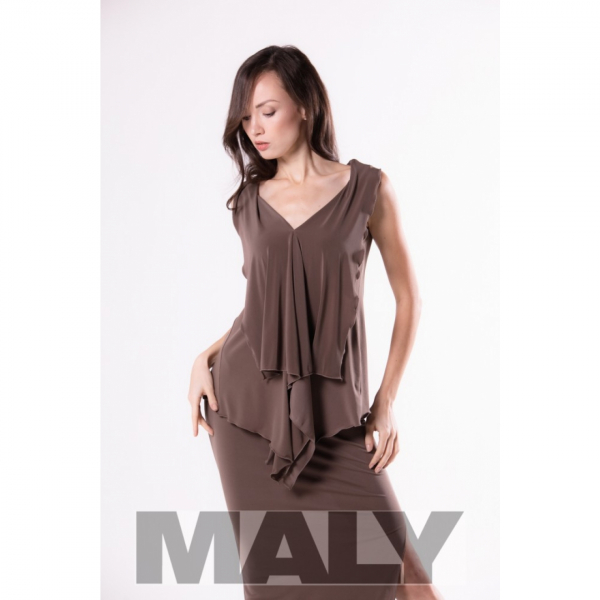 Maly Store MF161105 5900 Ladies shirt with back scarf fango