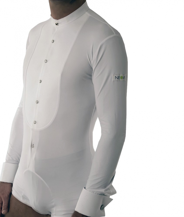 Very Zofcin Performance Shirt slim fit with pushbuttons white