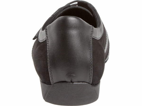 Diamant 123 225 070 Mod. 123 mens Ballroom Sneaker width H for wide feet wedge heel 2,5 cm black leather black suede