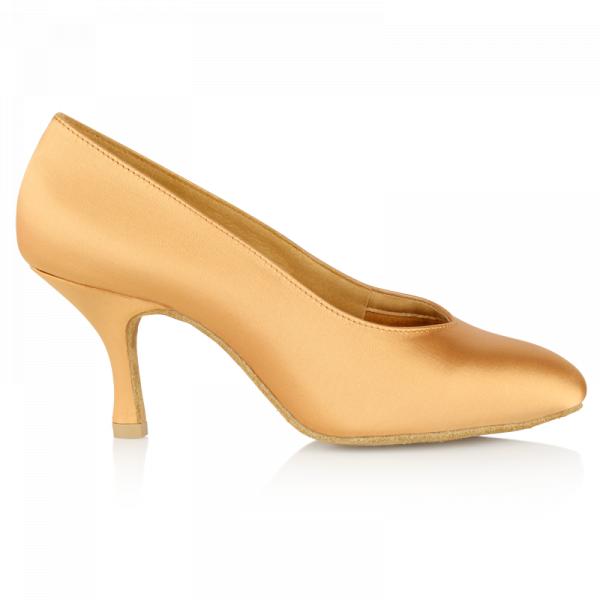 Ray Rose 109A Avalanche flesh satin standard ballroom dance shoes 2,5 slim