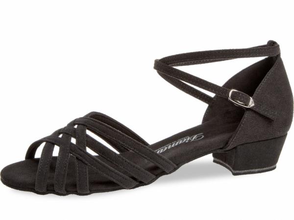 Diamant 008 035 335 Mod. 008 ladies dance shoes width F round form regular width bed bloc heel 2,8 cm black microfiber 80