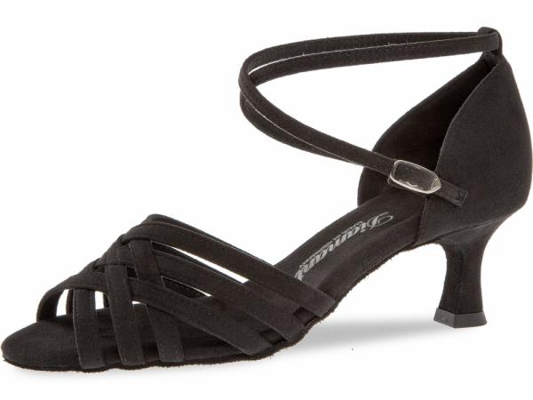 Diamant 008 077 335 Mod. 008 ladies dance shoes width F regular width Flare heel 5 cm black microfiber 80