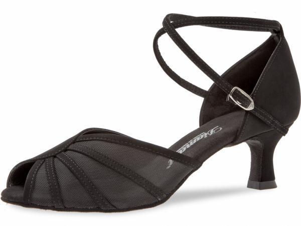 Diamant 020 077 040 Mod. 020 ladies dance shoes width F regular width Flare heel 5 cm black Nubuk synth.