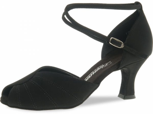 Diamant 027 060 040 Mod. 027 ladies dance shoes width F regular width Latino heel 6,5 cm black Nubuk synth.