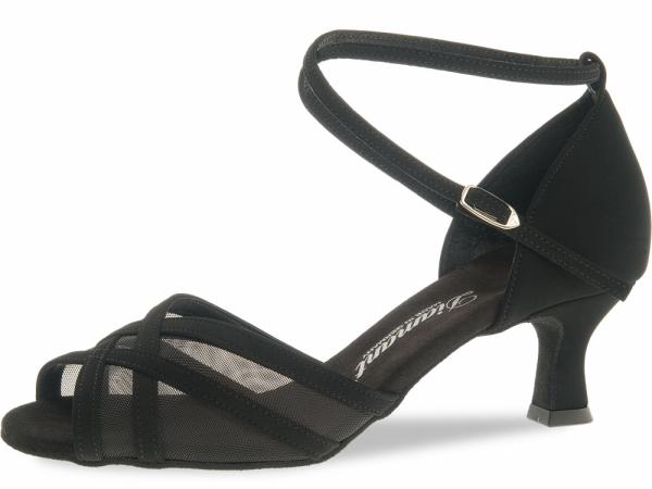 Diamant 035 077 040 Mod. 035 ladies dance shoes width F regular width Flare heel 5 cm black Nubuk synth.
