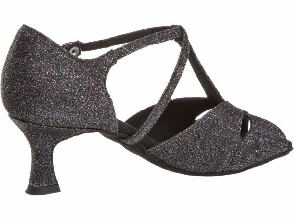 Diamant 182 077 511 Mod. 182 ladies dance shoes width F regular width Flare heel 5 cm multicolour brocade