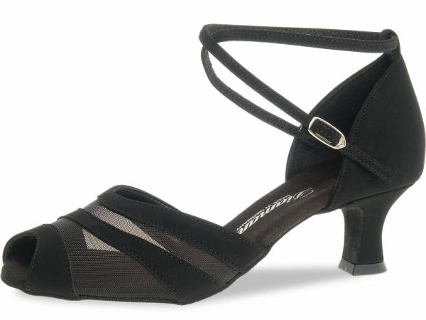 Diamant 102 064 040 Mod. 102 ladies dance shoes width F regular width Latino heel 5 cm black Nubuk synth.
