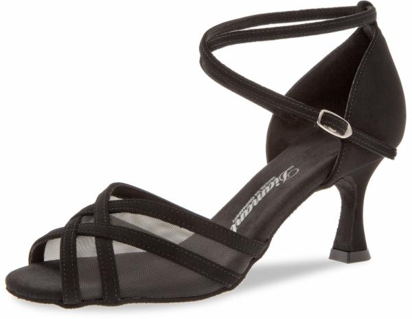 Diamant 035 087 040 Mod. 035 ladies dance shoes width F regular width Flare heel 6,5 cm black Nubuk synth.