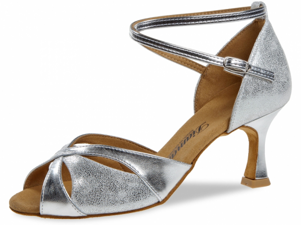 Diamant 141 087 463 Mod. 141 ladies dance shoes width F regular width Flare heel 6,5 cm silver synth. silver antique suede