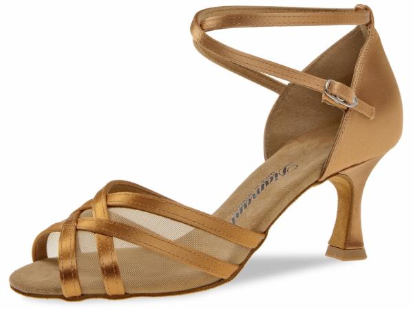 Diamant 035 087 087 Mod. 035 ladies dance shoes width F regular width Flare heel 6,5 cm bronze satin