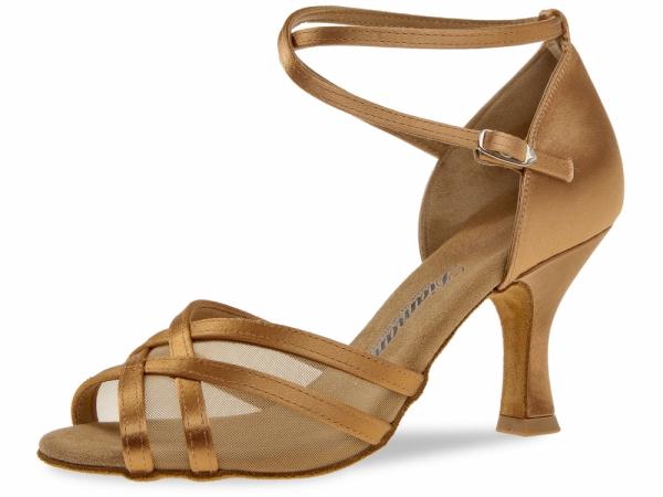 Diamant 035 108 087 Mod. 035 ladies dance shoes width F regular width Flare heel 7,2 cm bronze satin