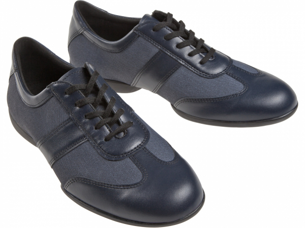 Diamant 123 325 565 Mod 123 mens Dance Sneaker width H comfortable split sole TPU heel 25 mm navy blue leather navy blue textile